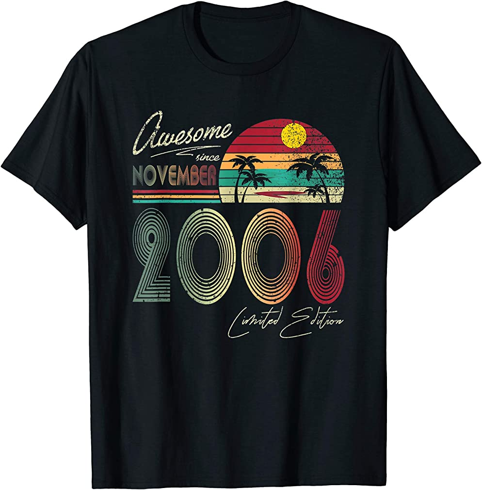 Awesome Since November 2006 13th Birthday Gift 13 Yrs Old T-shirt