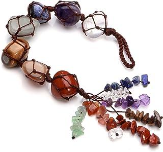 Best Jovivi Chakra Stones Set, 7 Chakras Healing Crystals Wall Hanger Tumbled Gemstones Tassel Spiritual Meditation Hanging Ornament/Window Ornament/Feng Shui Review