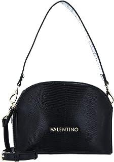حقيبة كتف كينسيجتون من ماريو فالنتينو بتأثير جلد الثعبان بلون اسود ومقاس واحد