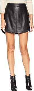 BB Dakota Junior's Conrad Leather Mini Skirt, Black, 10