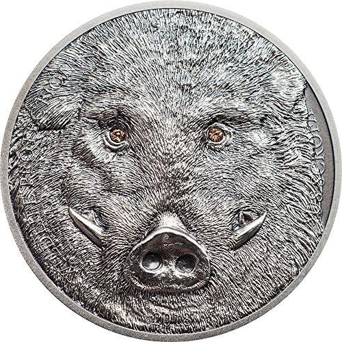 WILD Boar WildschWeiß Sus Scrofa Wildlife Protection 1 Oz Silber Münze 500 Togrog Mongolia 2018