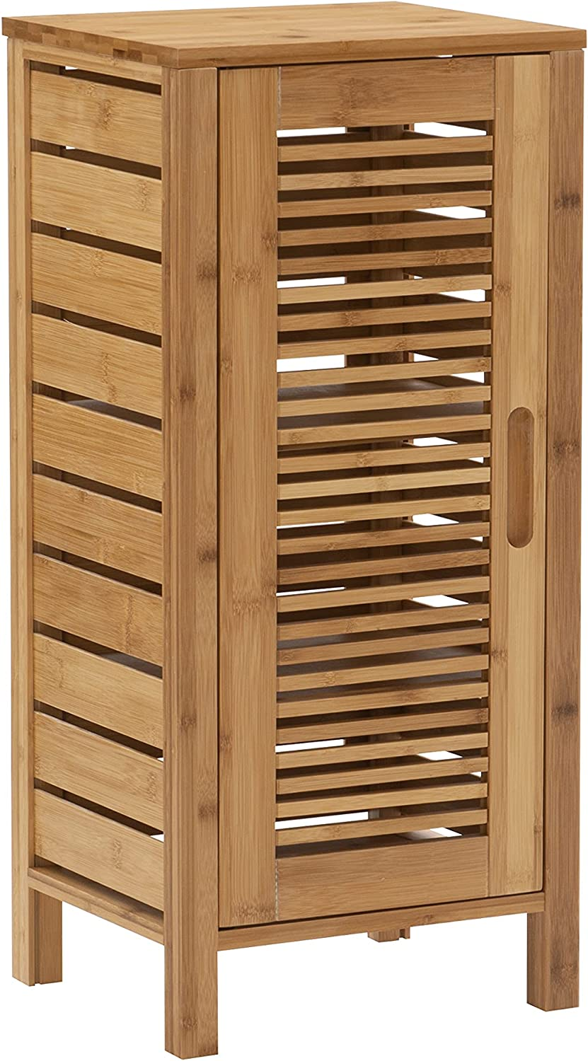 Linon Finn Bamboo Bathroom Door Popular products One Cabinet Los Angeles Mall Brown