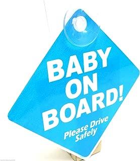 Blau Baby on Board Schild Saugnapf Fahrzeug Sicherheit Bright Baby on Board Sign Car