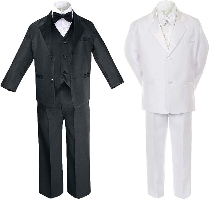 2pc Black Formal Party Wedding Shirt Pants Set New Born Baby Boy Toddler Sm-20