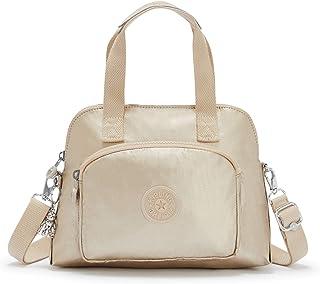 Kipling Tracy Small Metallic Tote Bag Starry Gold Metallic