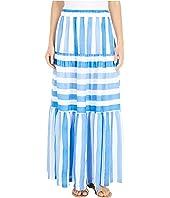 Tiled Stripe Maxi Skirt