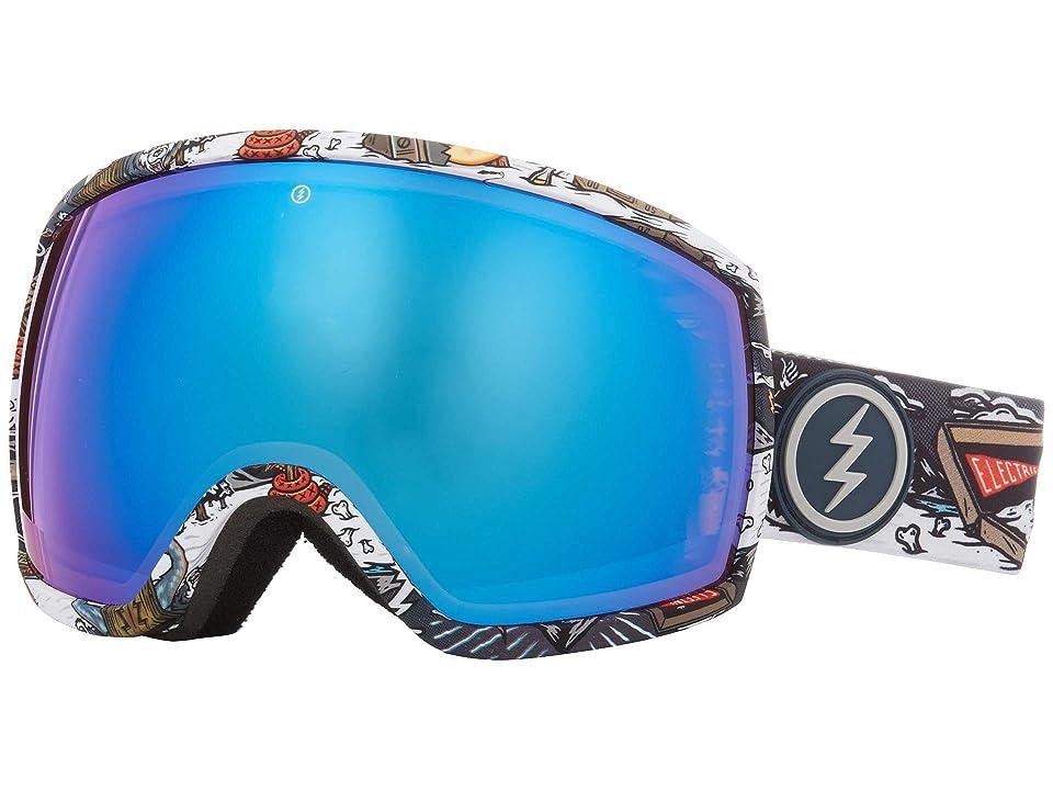 Electric Eyewear EGG (Curl Brose/Blue Chrome) Athletic Performance Sport Sunglasses