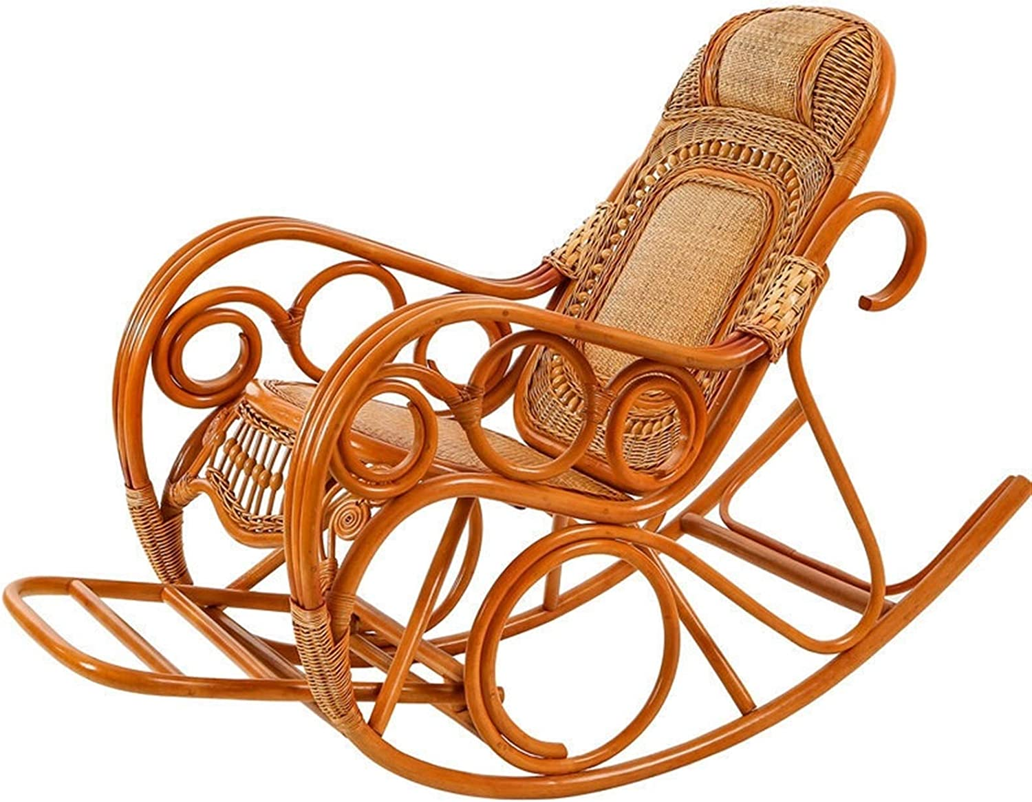 Import SFGH Solid Wood Large Rocking Chair Sale price Balcony Adult Ratta Recliner