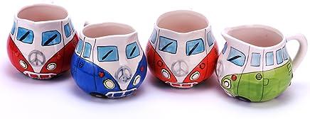 Preisvergleich für Camper Bus Milchkännchen - farbig sortiert, aus Keramik.