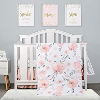 Baby Bedding Set 120x90cm oreiller couette 4PC Fit Cot Cœurs Rouges sur Blanc