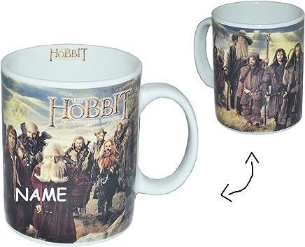 Preisvergleich für Unbekannt Tasse - Hobbit - Herr der Ringe - Porzellan / Keramik - incl. Name - Trinktasse mit Henkel Becher Porzellantasse Tassen für Kinder Mädchen Jungen Mittelerde H..
