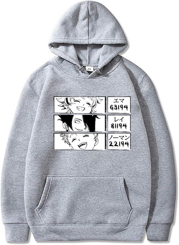Sudadera Pullover Anime Print The Promised Neverland Hoodie Print Hoodie Ni/ños//Ni/ñas Casual Manga Larga Cosplay Ropa Invierno Sudadera C/álida