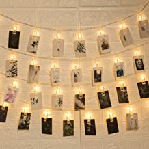 GIGALUMI 50LED Photo Clips String Lights,Indoor Fairy String Lights for Hanging Photos Pictures Cards and Memos,Great for Home Decor
