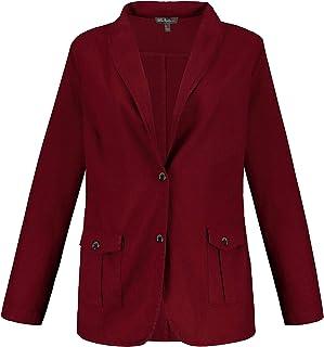 Finement textur/é col int/éressant 725730 Ulla Popken Femme Grandes Tailles Blazer