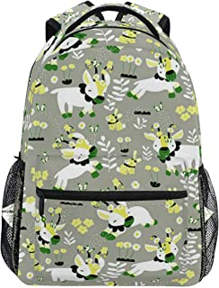 Mochilas Tipo Casual Frolicking Goats School Backpack Lightweight Large Capacity Daypack Bookbags Travel Bag for College Student Laptop