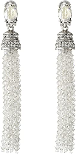 Oscar de la Renta - Crystal Tassel C Earrings