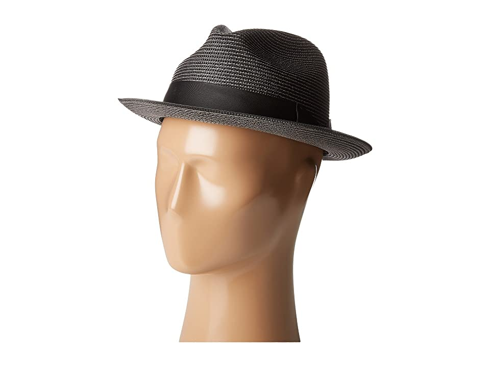 Stacy Adams Pinch Front Braid Fedora (Black) Fedora Hats