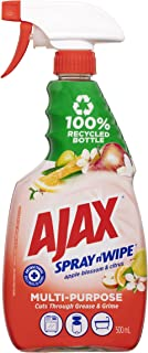 Ajax Spray n' Wipe MultiPurpose Antibacterial Disinfectant Trigger Surface Spray Apple Blossom and Citrus Trigger Made in ...