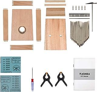 Kmise Kalimba DIY Kit 17 Key with Manual Tools Tuner Hammer
