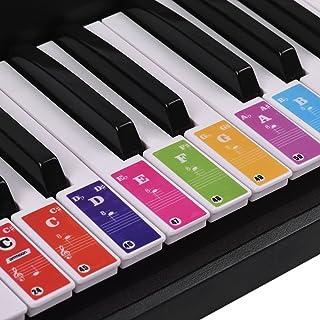 ammoon Piano Keyboard Stickers for 37/49/ 61/88 Key Keyboard