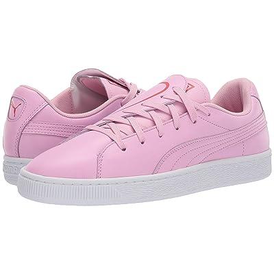 PUMA Basket Crush Emboss (Pale Pink/Hibiscus) Women