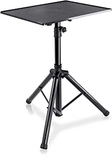"""Pyle Laptop Projector Stand, Heavy Duty Tripod Height Adjustable 28"""" to 41"""" for DJ Presentations Notebook Computer"""