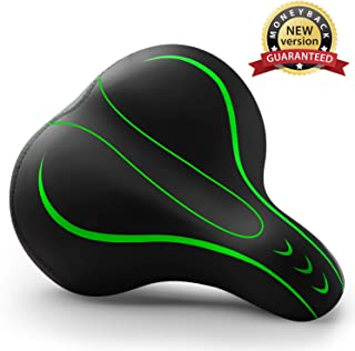 Xmifer Oversized Bike Seat, Comfortable Bike Seat - Universal Replacement Bicycle Saddle - Waterproof Leather Bicycle Seat with Extra Padded Memory Foam - Bicycle Seat for Men/Women