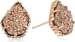 tessa stud earrings in rose gold drusy