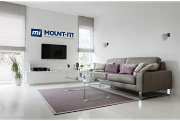 Mount-It! Speaker Mount for Wall and Ceiling, Low Profile Heavy Duty, Anti-Theft, Universal for Channel Surround Soun...
