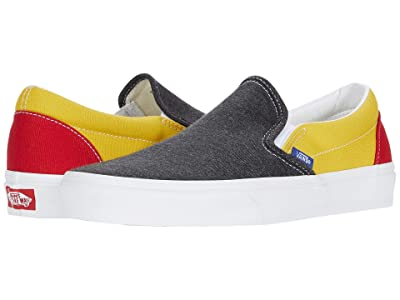 Vans Classic Slip-Ontm ((Vans Coastal) Black/True White) Skate Shoes