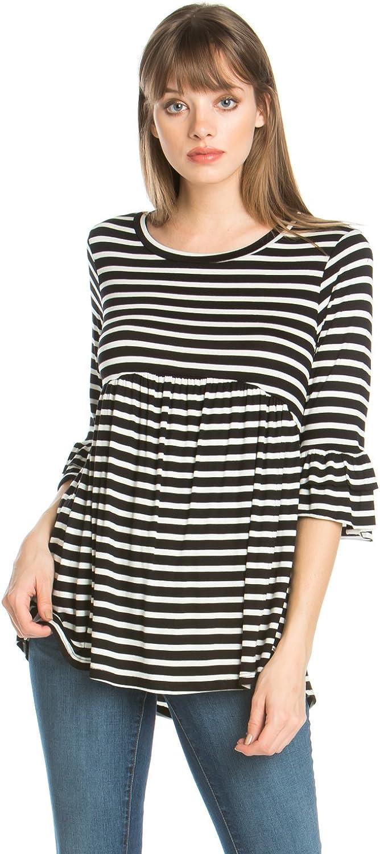 Junky Closet Women's Long Sleeve Stretch T Shirt Blouse Top