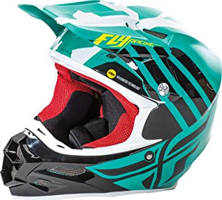 Fly Racing Unisex-Adult Full-face Style F2 Carbon Mips Zoom Helmet (Teal/Black/White, X-Small)