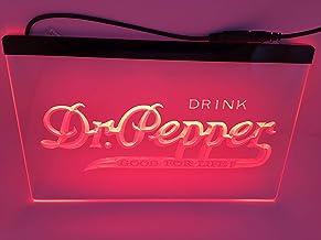jxledsign red Drink dr deppes Beer Bar Budweiser Led Light Sign