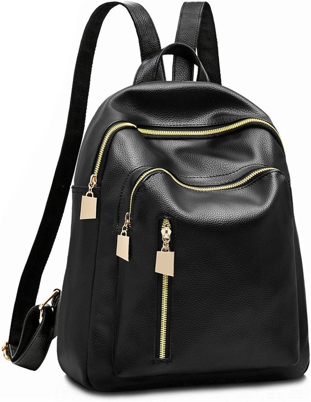 GAOQIANGFENG New fashionWaterproof Rucksack Rucksack Rucksack Mode   Rucksack für Mädchen, große Schwarze Ausgabe, 34X27X12CM B07F9Q9K7X  Verrückter Preis ea955f
