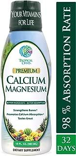 Tropical Oasis Liquid Calcium & Magnesium - Natural formula w/ support for strong bones - Liquid vitamins w/ calcium, - 16oz, 32 Serv.