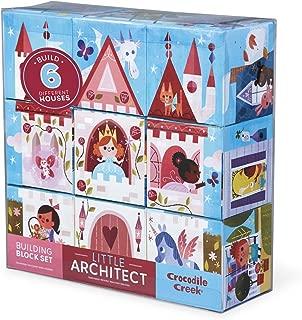 Crocodile Creek Little Architect Girl Builder Jumbo Block Mix and Match Stacking Set, 3.5