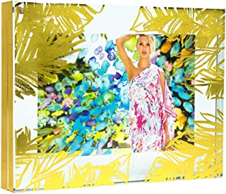 Lilly Pulitzer Gold Leaves 5X7 Photo Frame