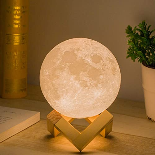 Mydethun Moon Lamp Moon Light Night Light for Kids Gift for Women USB Charging and Touch Control Brightness 3d Printe...