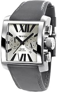 تي دبليو ستيل ساعة يد رجاليه بسوار جلد، CE3003