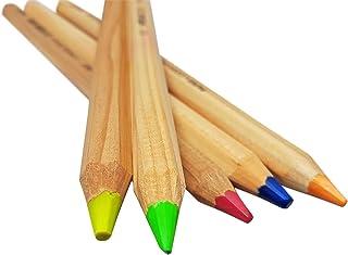 LYRA ドライ蛍光ペン 聖書セーフ オフィス用品 ラッカーなしネオン蛍光色鉛筆 5色セット