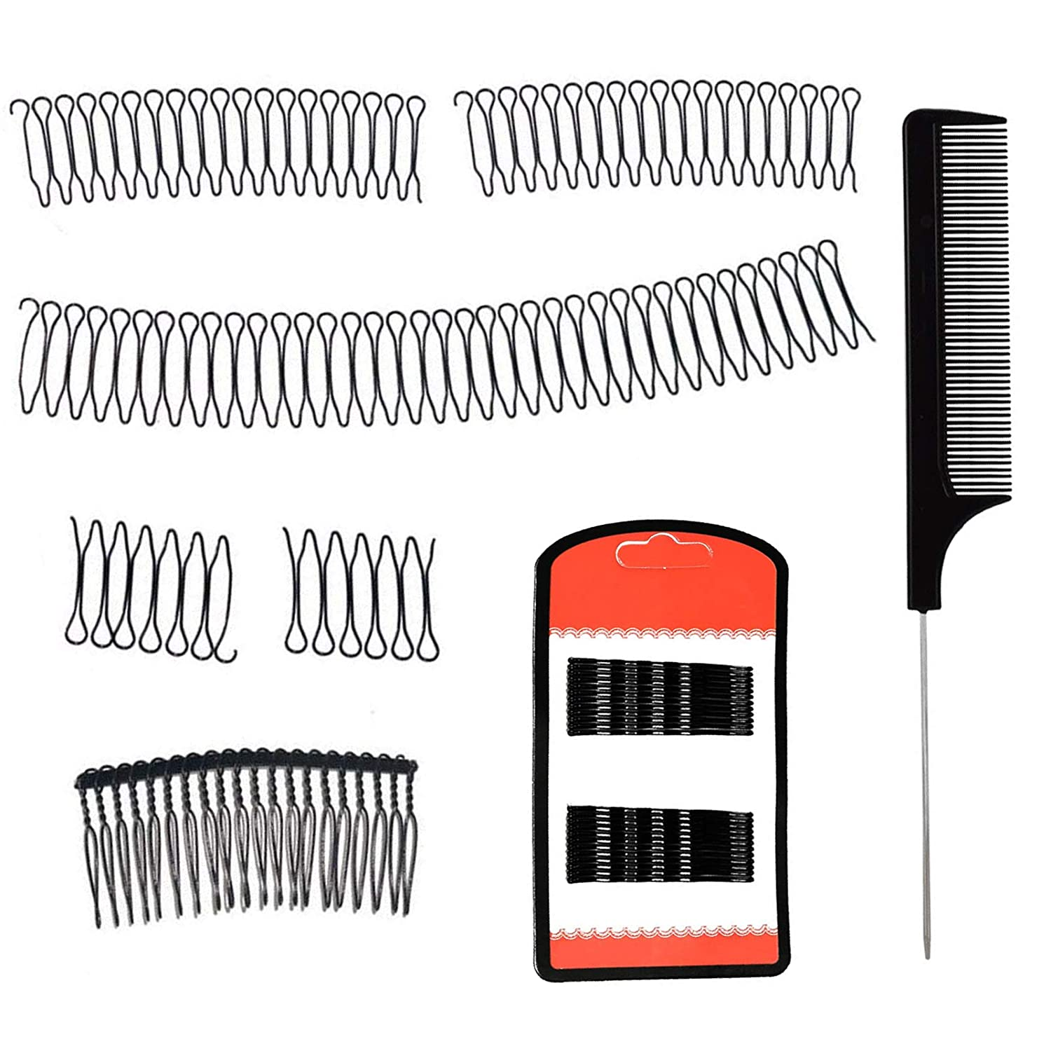 DKAF 8 Pcs U Shape Hair At the price of surprise Tail with Max 46% OFF Rat Finishing Comb Fixer