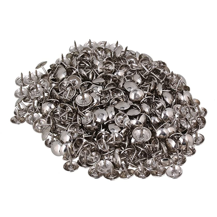 Yibuy 200pcs 9 x 9mm Upholstery Nails Stud Tack with Round Dome Head of Silver