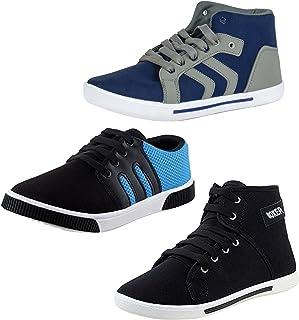Ethics Men's Faux Leather Multicolour Sneaker Shoes Shoes (7) -Combo Pack of 3
