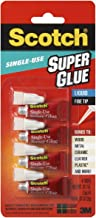 Scotch Super Glue Liquid, .07 Ounces (AD114), 4 Count