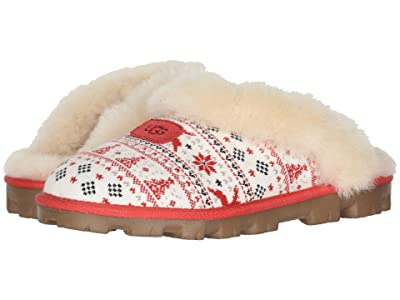 UGG Zappos 20th x Holiday Sweater Slipper (Ribbon Red) Women
