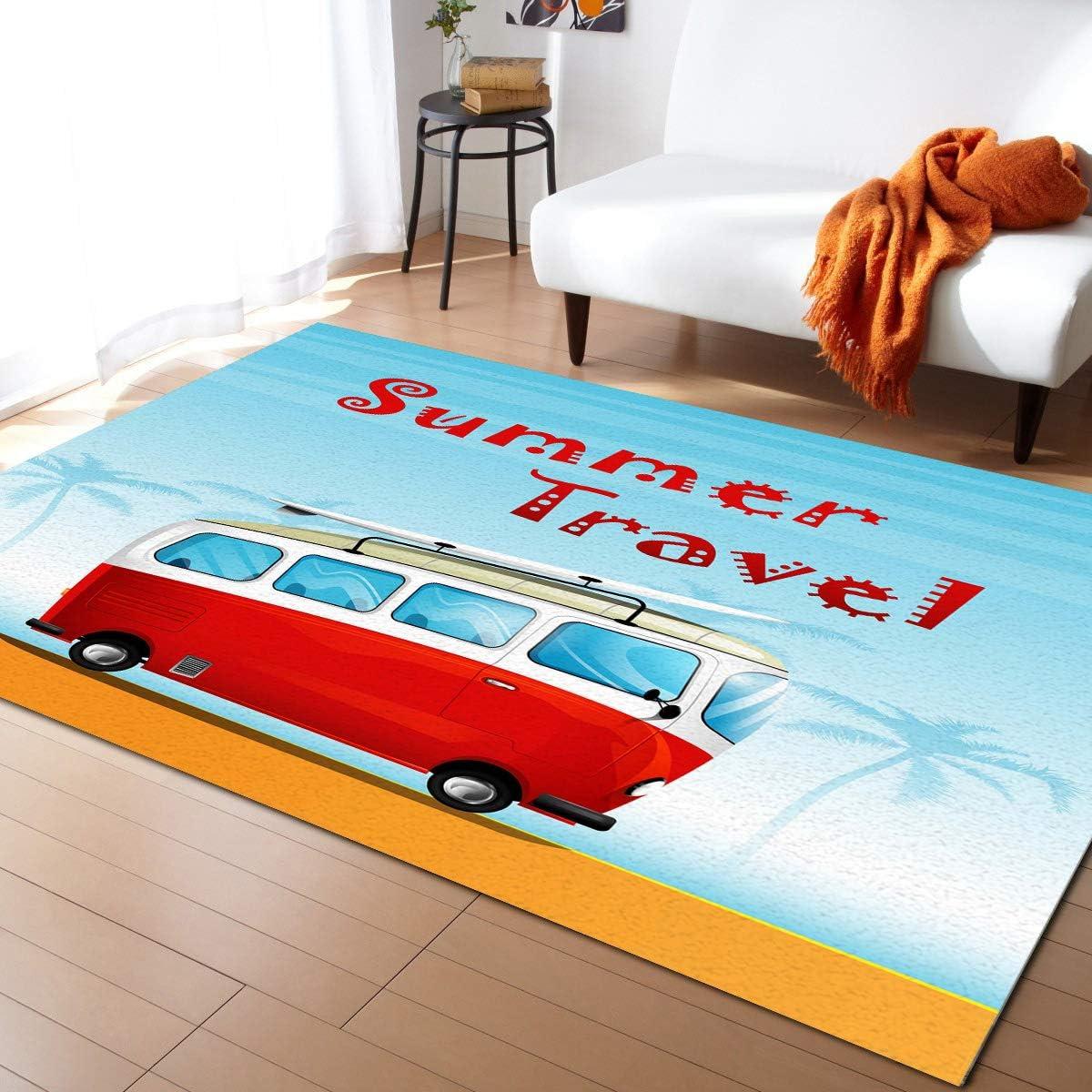 Advancey 輸入 Indoor High-Low まとめ買い特価 Area Rug Travel Summer 2'x3' Bus Beach