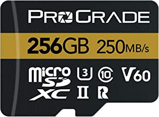 microSD Card V60 (256GB) - Tested Like a Full-Size SD Card for use in DSLRs, mirrorless and Aerial or Action Cameras | Up ...