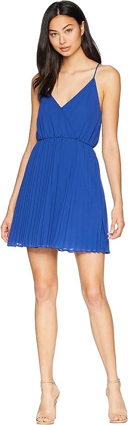 Surplice Pleated Dress