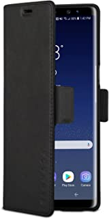 Galaxy Note 8 Leather Case Flip Cover Black - KANVASA Pro 2