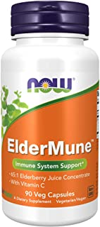Now Supplements, ElderMune 65:1 Elderberry Juice Concentrate with Vitamin C, Immune System Support, 90 Veg Capsules